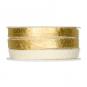 Filzband mit Metallic-Foliendruck, Farbe: creme/gold