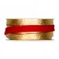 Filzband mit Metallic-Foliendruck, Farbe: rot/gold