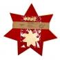 "Tischdeko-Set ""Metallic-Sterne"", Farbe: rot/gold"