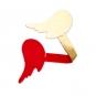 Filz-Engelsflügel, Farbe: rot/gold
