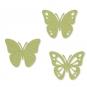 Filz-Sortiment Schmetterlinge, Farbe: Pastellgrün
