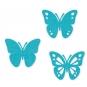 Filz-Sortiment Schmetterlinge, Farbe: Türkis