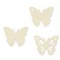 Filz-Sortiment Schmetterlinge, Farbe: Creme