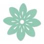 "Filz-Tischset ""Blüte"", Farbe: mint"