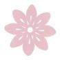 "Filz-Tischset ""Blüte"", Farbe: pastellrosa"