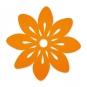 """Filz-Tischset """"Blüte"""", Farbe: orange"""