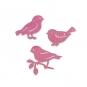 """Holz-Sortiment """"Vögel"""", Farbe: rosa"""