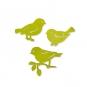 "Holz-Sortiment ""Vögel"", Farbe: grün"