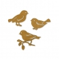 """Holz-Sortiment """"Vögel"""", Farbe: natur"""