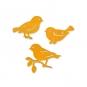"""Holz-Sortiment """"Vögel"""", Farbe: orange"""