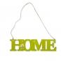 "Holz-Schild ""HOME"", Farbe: grün"