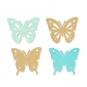 """Papier-Sortiment """"Schmetterlinge"""", Farbe: mint/türkis"""