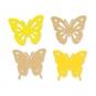 "Papier-Sortiment ""Schmetterlinge"", Farbe: pastellgelb/gelb"