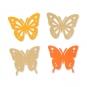 "Papier-Sortiment ""Schmetterlinge"", Farbe: pastellorange/orange"