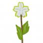 "Naturholz-Stecker ""Blume"", Farbe: Frühlingsgrün/Weiß/Grün"