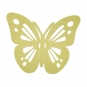 "Filz-Deko ""Schmetterling"", Farbe: Pastellgrün"