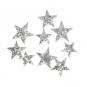 "Glitter Streusort.""Sterne"", Farbe: Silber"