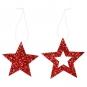 """Glitter-Hänger Sortiment """" Sterne"""", Farbe: rot"""
