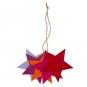 """Filzsortiment """"Sterne"""", Farbe: Lavendel/Violet/Orange/Pink/Rot"""
