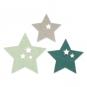 """Filzsortiment """" Sterne """" 6 Stück, Farbe: mint/petrol/grau"""