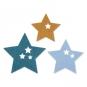 "Filzsortiment "" Sterne "" 6 Stück, Farbe: blau/hellblau/ natur"