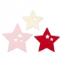 """Filzsortiment """" Sterne """" 6 Stück, Farbe: rosa/rot/cream"""