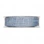 Gitterband meliert, Farbe: Blau/Weiß