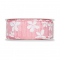 "Druckband ""Blüten"", Farbe: rosa / weiß"