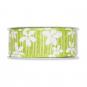 """Druckband """"Blüten"""", Farbe: hellgrün / weiß"""