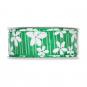 """Druckband """"Blüten"""", Farbe: grün / weiß"""