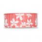 """Druckband """"Blüten"""", Farbe: coral / weiß"""