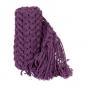 Deko-Strickband mit Fransen, Farbe: violet
