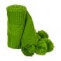 Deko-Strickband mit Zopfmuster, Farbe: grün