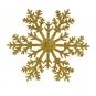 """Anhänger """"Schneestern"""" mit Glitter, Farbe: gold"""