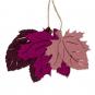 "Filzsort. ""Herbstblätter"", Farbe: Altrosa/Pink/Brombeere"