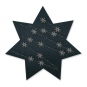 "Filz-Sterne ""Eiskristalle"", Farbe: Stahlgrau/Silber"