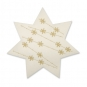 "Filz-Sterne ""Eiskristalle"", Farbe: Creme/Gold"