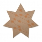 "Filz-Sterne ""Eiskristalle"", Farbe: Beige/Kupfer"