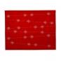 """Filz-Tischset """"Eiskristalle"""", Farbe: Rot/Weiß"""