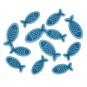"""Filzsortiment """"Fische"""", Farbe: Blau"""