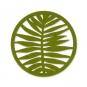 "Filz-Untersetzer ""Blätter"" Ø 10 cm, Farbe: Grasgrün"