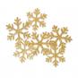 """Glitter-Filz-Streudeko """"Eiskristalle"""", Farbe: Gold"""