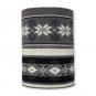 """Strickschlauch """"Norweger Muster"""", Farbe: schwarz/grau/creme"""
