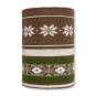 """Strickschlauch """"Norweger Muster"""", Farbe: braun/grün/creme"""