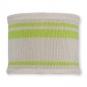 """Strickschlauch """"Streifen"""", Farbe: perle/grün"""