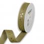 "Druckband ""Sterne"", Farbe: Olivgrün/Leinen/Gold"