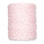 Papierkordel, 2-farbig, Farbe: rosa/weiß