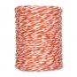Papierkordel, 2-farbig, Farbe: orange/weiß
