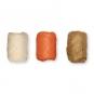 Papier-Raffia-Set 3 x 10 m, Farbe: natur/orange/hellbraun