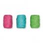 Papier-Raffia-Set 3 x 10 m, Farbe: pink/türkis/grün